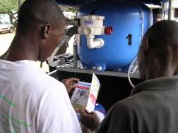 LIBERIA: Oppdrag for Kirkens Nødhjelp i Liberia der vann- og sanitærtiltak ble satt i verk etter borgerkrigen i 2003.