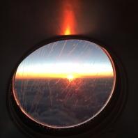 FROST-FLYVNING: Dette bildet er tatt på vei til USA for et par år siden.