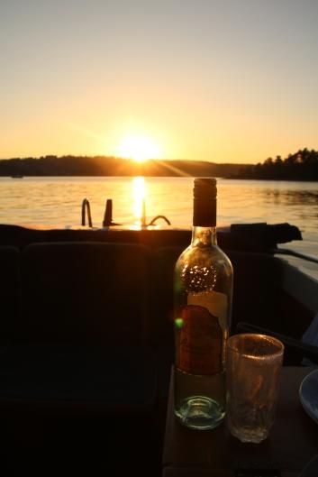 OSLOFJORDEN: En sommerkveld i båt på Oslofjorden.