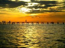 MABUL: Uten filter ser solnedgangen på den malaysiske øya Mabul slik ut.