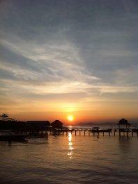 SIPADAN: Solnedgang sett fra Mabul i Malaysia.